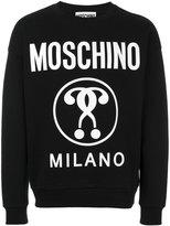 Moschino logo printed sweatshirt - men - Cotton - 44