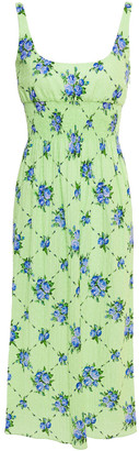 Emilia Wickstead Giovanna Fil Coupe Floral-print Cotton-blend Midi Dress