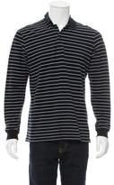 Christian Dior Stripe Long Sleeve Polo