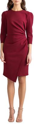Shoshanna Ralph 3/4-Sleeve Stretch Crepe Dress