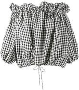 Marques Almeida Marques'almeida gingham off-shoulder blouse