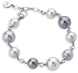Majorica Exquisite Faux-Pearl Sterling Silver Bracelet