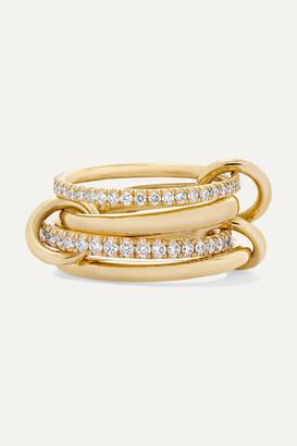 Spinelli Kilcollin Polaris Set Of Four 18-karat Gold Diamond Rings - 6