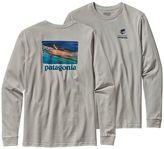 Patagonia Men's Long-Sleeved World Trout Slurped Cotton T-Shirt