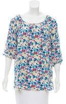 Gerard Darel Floral Print Silk Top