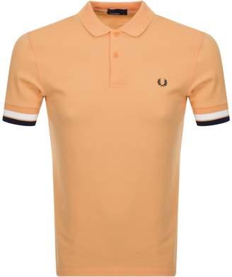 Fred Perry Bold Cuff Polo T Shirt Orange