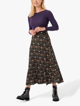 Brora Liberty Floral Maxi Skirt, Forbidden Fruit