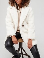 Thumbnail for your product : Very Relaxed Faux Teddy Fur Coat - Ivory
