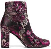 Saint Laurent Babies Brocade Ankle Boots - Purple