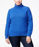 Karen Scott Plus Size Marled Turtleneck Sweater, Only at Macy's