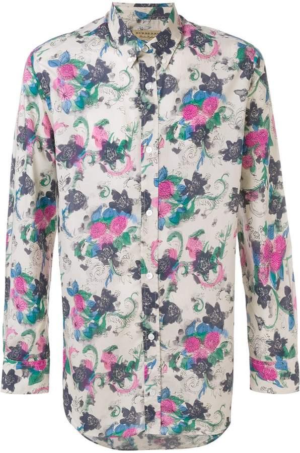 Burberry floral print button down shirt
