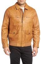 Tommy Bahama 'Santiago' Lambskin Leather Aviator Jacket (Big & Tall)