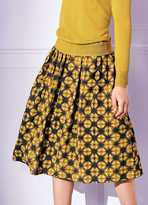 Kaleidoscope Pleat Detail Elasticated Print Skirt