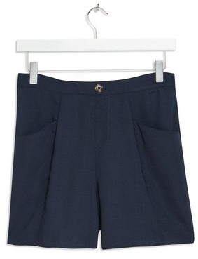 Dorothy Perkins Womens Navy Button Seam Shorts
