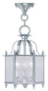 """Livex Livingston 3-Light 13.75"""" Convertible Mini Pendant/Ceiling Mount"""
