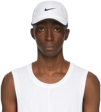 Nike White and Black Featherlight Running Cap