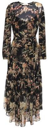 Zimmermann Asymmetric Belted Floral-print Silk-chiffon Midi Dress