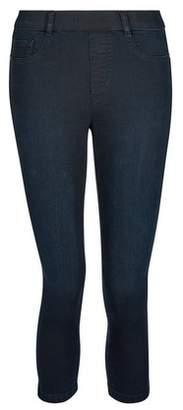 Dorothy Perkins Womens Blue Black 'Eden' Super Soft Cropped Jeggings, Blue