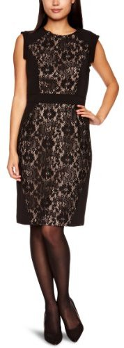 Adrianna Papell Women's Lace Blocked Dress
