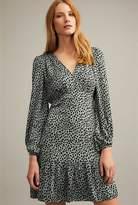 Witchery Leopard Shirred Dress