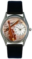 Whimsical Watches Women's S0510002 Violin Black Leather Watch