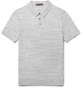 Michael Kors Mélange Cotton-Jersey Polo Shirt