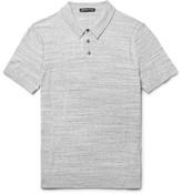 Michael Kors Mélange Cotton-Jersey Polo Shirt