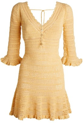 She Made Me Neha Crochet Mini Dress