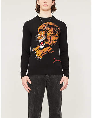 Givenchy Lion cotton-knit jumper