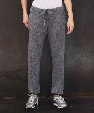Colour Works by In Cashmere Women's Sweatpants Mid - Mid Heather Gray Cashmere Sweatpants - Women