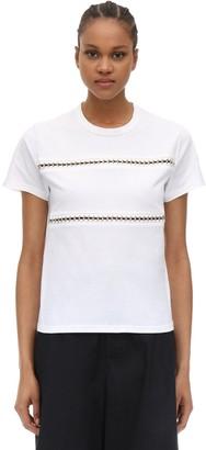 MONCLER GENIUS Noir Cotton Jersey T-shirt