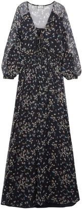 Paul & Joe Floral-print Silk-georgette Gown