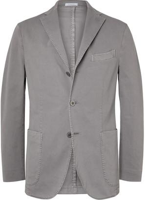 Boglioli Grey K-Jacket Slim-Fit Unstructured Stretch-Cotton Twill Suit Jacket