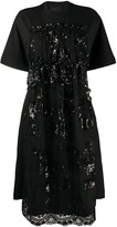 Simone Rocha sequin embellished flared dress