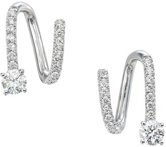 Anita Ko 18kt White Gold Diamond Spiral Earrings