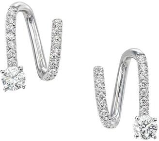 Anita Ko 18kt White Gold Diamond Spiral Earrings
