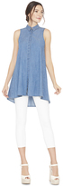 Alice + Olivia Anisa Sleeveless Flowy Tunic Top
