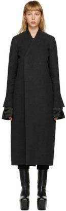 Rick Owens Black Museum Coat