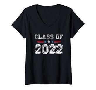 Sophomore Womens Class of 2022 Shirt High School Gift V-Neck T-Shirt