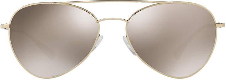 Prada Linea Rossa Ps 50ss 57 Gold Square Sunglasses