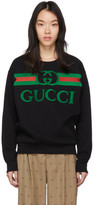 Gucci Black Oversized Logo Sweatshirt