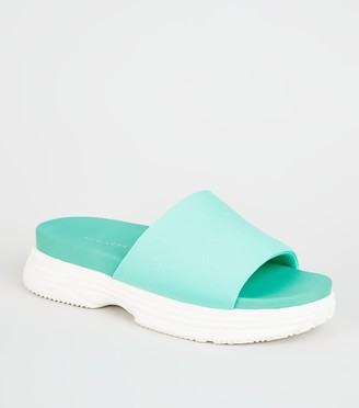 New Look Chunky Sole Sporty Footbed Sliders