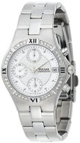 Pulsar Women's PF8211 Crystal Accented Chronograph Silver-Tone Stainless Steel Watch