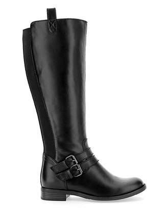 Jd Williams Elastic Back Boots EEE Fit Standard Calf