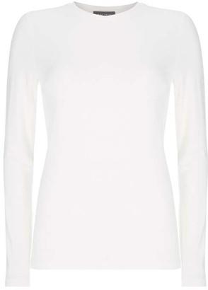 Mint Velvet White Long Sleeved T-Shirt