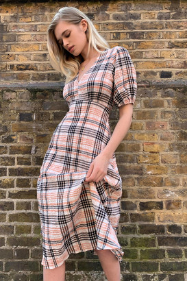 Urban Outfitters Aura Seersucker Midi Dress