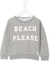 American Outfitters Kids - beach please print sweatshirt - kids - Cotton/Lurex - 4 yrs