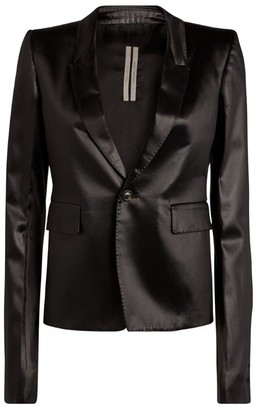 Rick Owens Cropped Leather Blazer