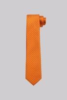 Moss Bros Premium Orange Spot Silk Skinny Tie