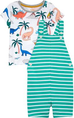 Boden Graphic Tee & Short Overalls Set